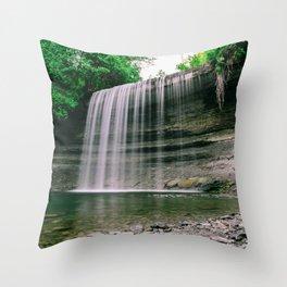 Bridal Veil Falls, Manitoulin Island, Ontario Canada Throw Pillow