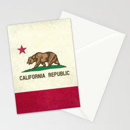 California Republic Flag Stationery Cards