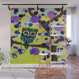 :: Gemmy Owl in the Jewel Tree :: Wall Mural