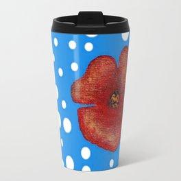 Coquelicot et neige Travel Mug