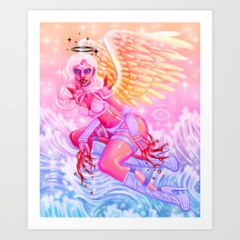 Ixia, Angel of the Bloodthirsty Art Print