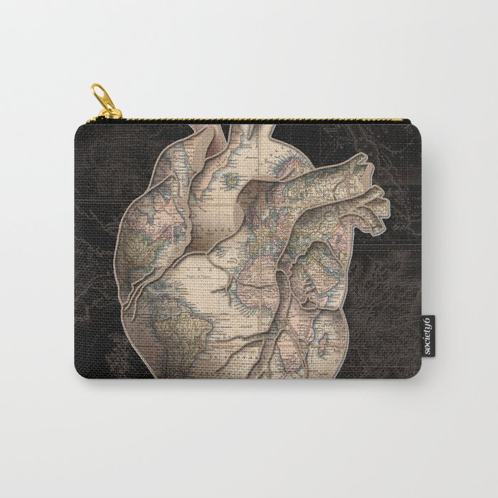 adventure heart-world map Carry-All Pouch