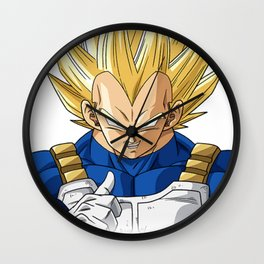 Dbz super vegeta Wall Clock