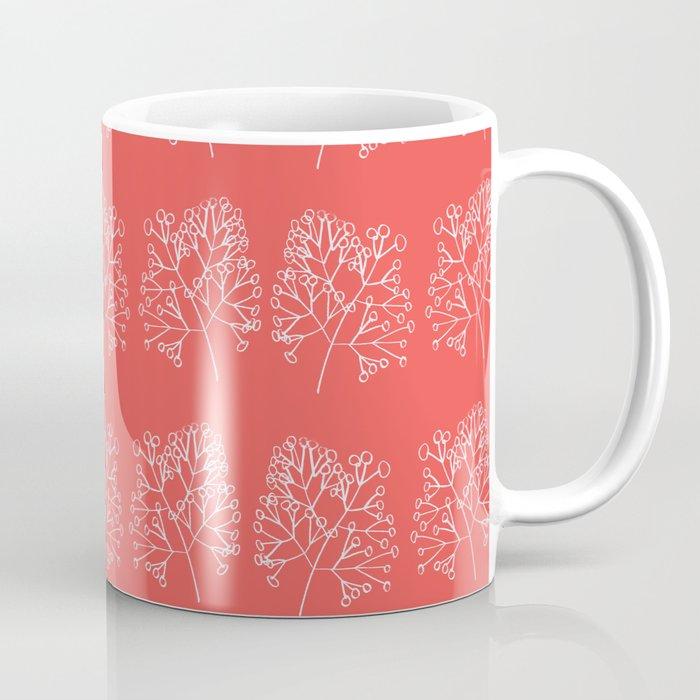 branches red graphic nordic minimal retro Coffee Mug