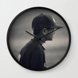 Baseball Ready Wall Clock
