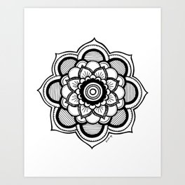 Mandala Illustration Art Print