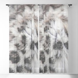 Snow Leopard Sheer Curtain