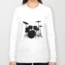 Amazing Drum Set t shirt Drummer Rock Heavy Metal Music t-shirts Long Sleeve T-shirt