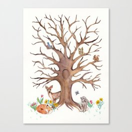 Fingerprint Tree Canvas Print