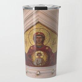 Christian Mosaic In Tallinn Travel Mug