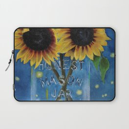 Lightning Bugs and Sunflowers Laptop Sleeve