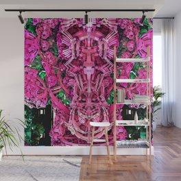 Exoskeleton Pink Wall Mural