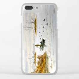 Duck Hunting - The Island Duck Blind Clear iPhone Case
