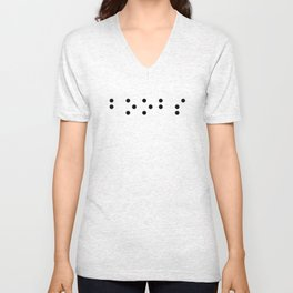 Boobs in braille funny Unisex V-Neck