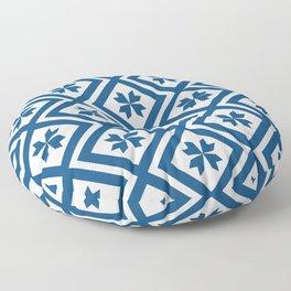 Geometric Squares - Classic Blue Floor Pillow