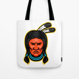 Sioux Chief Sports Mascot Tote Bag
