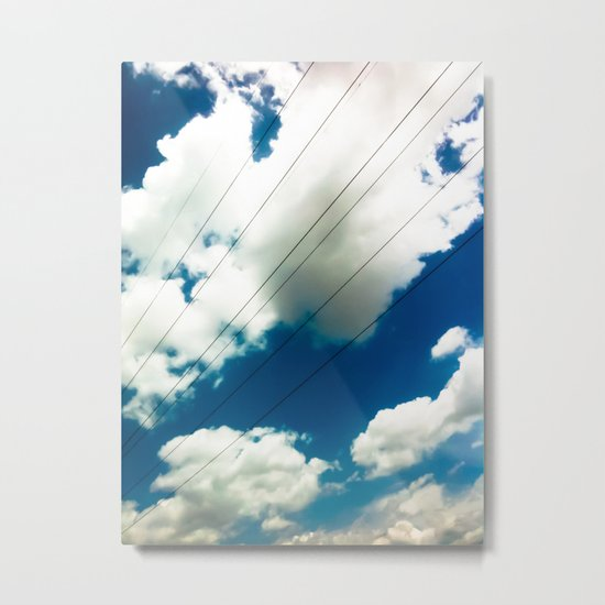 Lines and The Blue Sky Metal Print