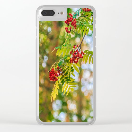 Bunches of rowan berries Clear iPhone Case