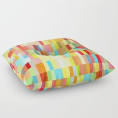 colorful rectangle grid Floor Pillow