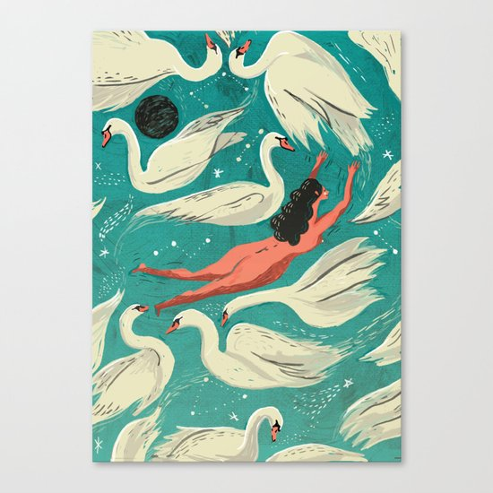 Flying or Drowning Canvas Print