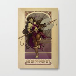 La Barbare - The Barbarian Metal Print