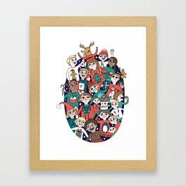 Christmas Kiddiwinks Framed Art Print