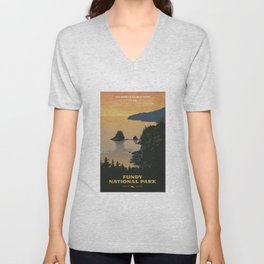Fundy National Park Unisex V-Neck