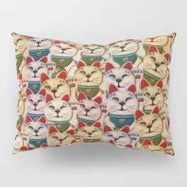 Maneki-neko cats pattern Pillow Sham