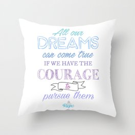 All our Dreams Throw Pillow