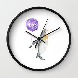 Penguin Greetings Wall Clock