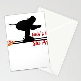 Ski speeding at Nub's Nob Ski Area Stationery Cards