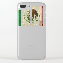 Mama Gift Mexican Design Mexican Flag Design For Mexican Pride Vintage Design  Clear iPhone Case