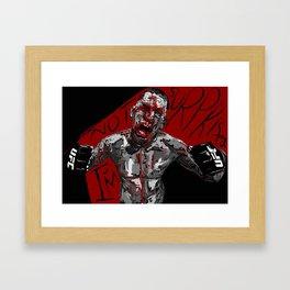 "Nate Diaz ""I'm not surprised!"" Framed Art Print"