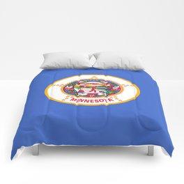flag minnesota,america,usa,midwest,gopher state, north star,agate,minnesotan,Saint paul,minneapolis Comforters