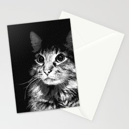 Moire Cat Stationery Cards