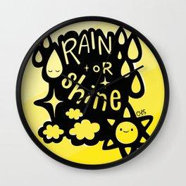 Rain or Shine Wall Clock