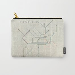 Minimal Philadephia Subway Map Carry-All Pouch