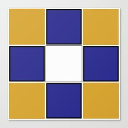TEAM COLORS 3..... Navy , gold and white Canvas Print