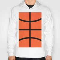 basketball Hoodies featuring Basketball by Rorzzer