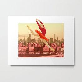 Red prima ballerina dancing in New York Metal Print