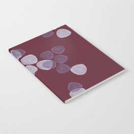 Bright Spring Petals in Burgundy Notebook