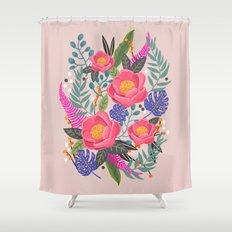 Romantic Blossom, flower print, floral print Shower Curtain