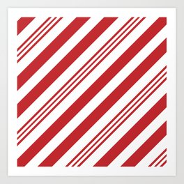 Red Candy Cane Stripes Art Print