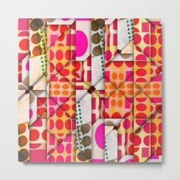 number 245  orange red pink pattern Metal Print