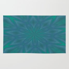 Aurora In Teal Blue and Green Rug