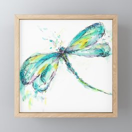 Watercolor Dragonfly Framed Mini Art Print
