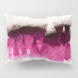 Modern Wine Geometrical Pattern Abstract Pillow Sham