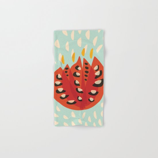 Red Abstract Tulip Hand & Bath Towel