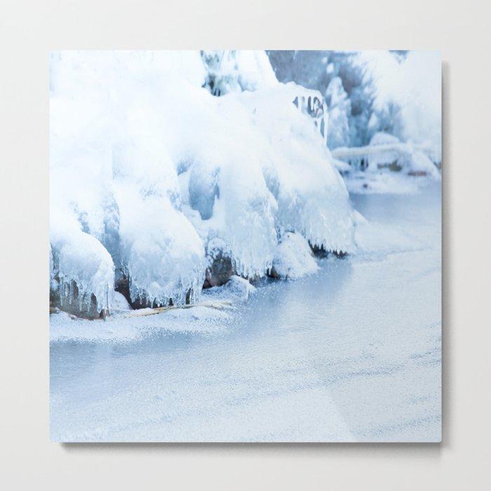 Winter scene #decor #buyart #society6 Metal Print