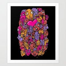 Face Melter Art Print